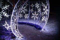 Установка купола света Snowlakes в Karpacz Стоковые Изображения