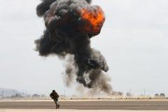 установка морского пехотинца взрыва Стоковое Фото