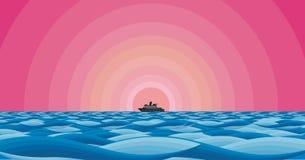 установка моря вкладыша розовая Стоковая Фотография RF