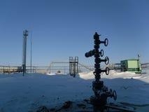 Установка нефтяной скважины Стоковые Изображения RF