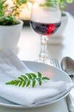 Установка обедая таблицы год сбора винограда домашняя Стоковые Изображения