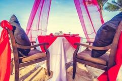 установка обеда романтичная Стоковые Фото