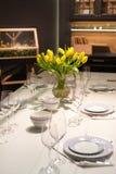 Установка обеденного стола Стоковое фото RF