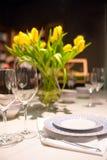 Установка обеденного стола Стоковые Изображения
