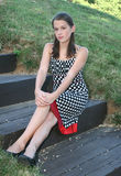 установка парка девушки напольная Стоковое Изображение RF