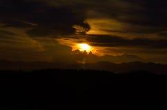Установка солнца Стоковые Фото