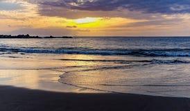 Установка Солнця на Атлантическом океане в Канарских островах Тенерифе Стоковые Фотографии RF