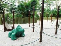 установка спортивной площадки детей естественная Стоковое Изображение