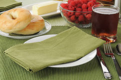 Установка таблицы завтрака Стоковое Изображение RF
