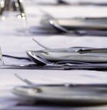 Установка таблицы ресторана Стоковые Изображения