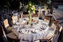 Установка таблицы венчания Стоковые Фотографии RF