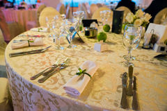 Установка таблицы венчания Стоковые Фото