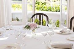 Установка таблицы венчания Стоковое фото RF