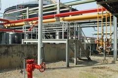 Установка трубы нефти и газ Стоковые Изображения RF
