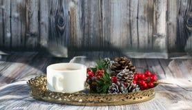 Установка утра рождества сладостная для завтрака стоковое изображение rf