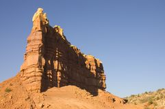 Установка Sun в пустыне Неш-Мексико стоковое фото rf