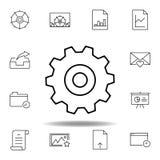 установки регулировки зацепляют значок плана Детальный набор значков иллюстраций мультимедиа unigrid Смогите быть использовано дл бесплатная иллюстрация