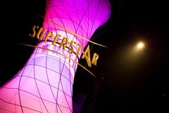установленная звезда супер tv выставки Стоковое фото RF