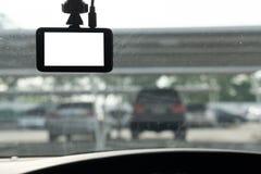 Установленная передняя камера на лобовом стекле для безопасности стоковые изображения rf