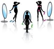 установленная сексуальная женщина Стоковое Изображение RF