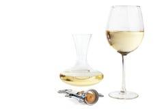 установленное белое вино Стоковые Изображения