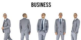 Установленной бизнесмены изолированной студии жеста Стоковое Изображение