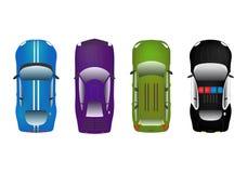 Установленные автомобили Стоковое Изображение RF
