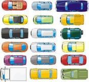 установленные автомобили Стоковое Изображение