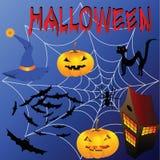 Установленные атрибуты Halloween Стоковые Изображения RF