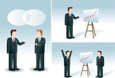 Установленные бизнесмены. Бесплатная Иллюстрация
