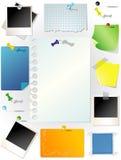 установленные бумаги примечания Стоковая Фотография RF
