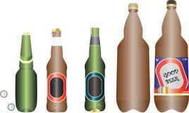 установленные бутылки пива Стоковые Фотографии RF