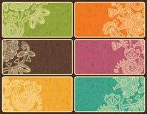 установленные визитные карточки Стоковые Фотографии RF