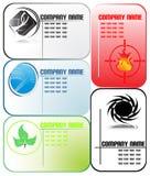 установленные визитные карточки Стоковые Изображения RF