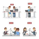 Установленные вручители радио Стоковые Изображения