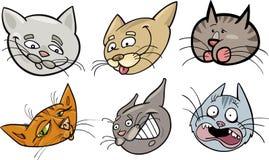 Установленные головки котов шаржа смешные бесплатная иллюстрация
