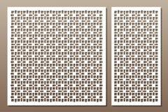 Установленные декоративные элементы для вырезывания лазера геометрическо иллюстрация штока