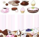 установленные десерты Стоковое Изображение RF