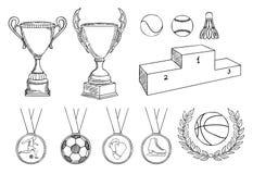 установленные детали чемпионата иллюстрация вектора