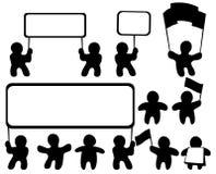 установленные диаграммы демонстрантов Стоковое фото RF