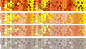 Установленные знамена меда Стоковая Фотография