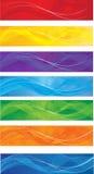 Установленные знамена сети Стоковое Изображение