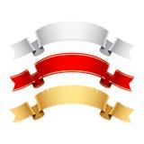 установленные знамена Стоковое Изображение