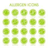 Установленные значки аллергена Стоковое Изображение RF
