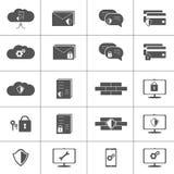 Установленные значки вектора безопасностью кибер ИТ иллюстрация штока