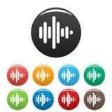 Установленные значки звуковой войны бесплатная иллюстрация