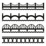 Установленные значки моста вектор