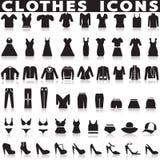 Установленные значки одежд Стоковое Изображение RF