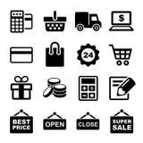Установленные значки покупок бесплатная иллюстрация