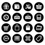 Установленные значки покупок иллюстрация вектора